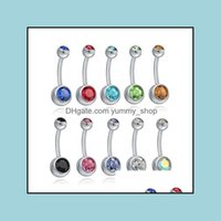 & Jewelrystainless Steel Bell Button Ring Crystal Piercing Navel Belly Rings For Women Fashion Body Jewelry Will And Sandy Ship Drop Deliver