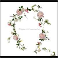 Flores decorativas guirnaldas suministros festivos entrega entrega 2021 plantas artificiales simuladas peonía rosa arbustos falsos vid casa tienda decoración