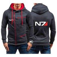 Sweater Spring Autumn Men's Mass Effect N7 Print Hoodie Hooded Sweatshirts Jacket Zipper Clothing