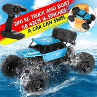 1:8 42cm RC Car & Boat Truck 2.4G R Control 4WD Off-road Electric Vehicle Remote Control Car Gift Toys Children Boys 210729