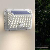 태양 벽 램프 IP65 방수 야외 벽 램프 업그레이드 지능형 디지털 디스플레이 바디 센서 안뜰 조명
