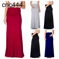 CY446 Talla grande Falda de maternidad Ropa para mujeres embarazadas Vestido Maxi S To XXXL Soft Rayon Buena tela estirada