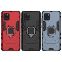 2In1 porte-bague Stand de stand voiture Magnetic Poch Cell Téléphone Coffres de téléphone pour iPhone 11 12 Pro Max x XR 7 8Plus Hybrid Armor Case Samsung S10 S20 Plus avec kickstand
