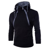 Autumn and winter new placket double zipper cardigan contrast Hooded Coat men's sweater fashion brand menG20H{category}