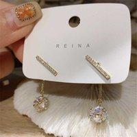 Dangle & Chandelier 2021 Arrival Trendy Crystal Tassel Ball Earrings For Women Fashion Water Drop Metal Jewelry Pendientes
