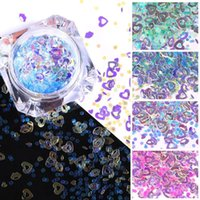 Nail Art Colorful Flakes Holographics Pink Blue Sequins Decoration Summer Design Sticker 3D Slices Accessories1