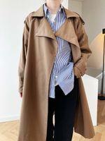 Women's Trench Coats Winter 2021 Long Coat Casual Loose With Belt Autumn Overcoat Female Fashion Windbreaker B668