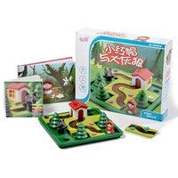 Bloklar Küçük Kırmızı Başlıklı Hood Deluxe Beceri Binası Akıllı Kurulu Oyunu Ile Resim Kitabı Çavuşlar 4-7 Mücadelesi Oyuncaklar Aile için 1008