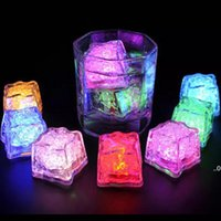 Светодиодные кубики льда бар Быстрая медленная вспышка автоматически смена кристалл кубик, активированная водой света 7 цвет для романтической вечеринки свадьба Xmas подарок EWD8790