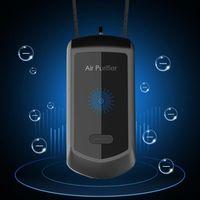 Car Air Freshener Wearable Necklace Mini Portable USB Cleaner Negative Lon Generator Low Noise Purifier Interior