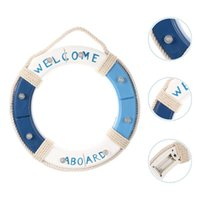 Garden Decorations Wall Decoration Nautical Wood Life Ring Premium Buoy For Decor(Battery)