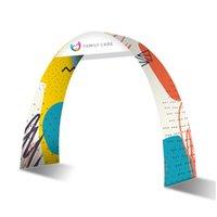 Exposición Arch Entrada Feria de comercio Equipo de visualización de publicidad con tela de tensión gráfica y bolsa portátil.