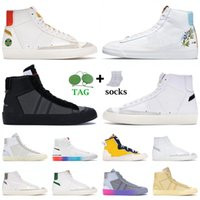 Nik Nk Blazer Mid 77 Vintage White Off Günlük Tasarımcı Ayakkabı Erkek Kadın Platform Spor Ayakkabı Indigo Have A Good Game  Klasik OG Siyah Beyaz Moda Eğitmenleri