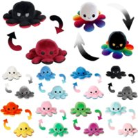 us stock Baby Kids Gift Doll Reversible Flip Octopus Stuffed Dolls Soft Plush Toys Party Favor New Year Christmas Gifts DHL Shipping CT04