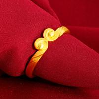 Tiktok estrela mesmo estilo zhou jia anel do encantamento da forma dourada moda apertado argola casal dourado casal anéis dia dos namorados presente