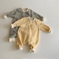 Jumpsuits MILANCEL Spring Baby Clothes Striped Infant Girls Boys Simple Style Playsuit