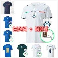 2021 2022 إيطاليا Soccer Jersey Gans Player Version Belotti Jorginho El Insigne Verratti Armobile Chiesa Men Kids 21 22 Italia Maillots Football Commet