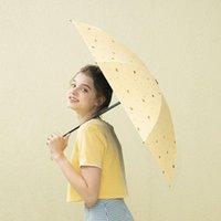 傘ミニサン傘パラソルレイン女性防風折りたたみ式ビーチガーデン日本のパラグアスプリール家庭用製品DE50