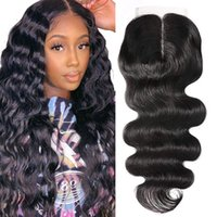 Brazilian Straight Body Water Wave Curly 4x4 T Part Lace Closure 100% Human Hair Top Closures