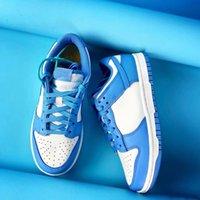 Scarpe da scarpe di alta qualità Serie Nord Carolina Blu Low Top Sport casual Skateboard per all'aperto con imballaggio di scarpe di carta