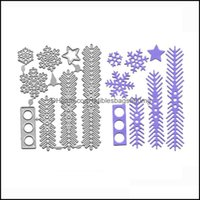 Painting Arts, Crafts Gifts Home & Gardenpainting Supplies Meatl Cutting Dies Snowflake Pine Leaf Stencil Christmas Decor Troqueles Scrapboo