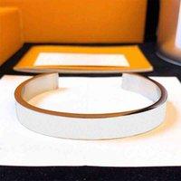Luxe Sieraden Bangle Polsband Bracele Party Simplicity Fashion Titanium Heren en Dames Holle roestvrijstalen open armband met doos