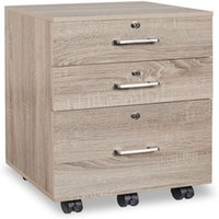 Office Furniture Wooden File Cabinet With Lock Density Board Melamine Bedside Mobile Low Three Drawer Movable Under the Table