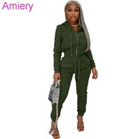 Women Tacksuits Two Pieces Outfits Sweatpants And Hoodie Set Designer Velvet Fabric Hoodie Zipper Jacket Pants Sportswear