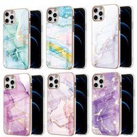 Sparkle Gold Glitter Phone Cases Marble Flower Slim TPU Soft Rubber Silicone Case For iPhone 13 12 11 Pro Max Mini