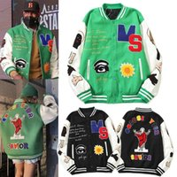 Men's Jackets Vintage Casual Baseball Jacket Furry Letters Embroidery Patchwork Streetwear Hip Hop College Style Unisex Varsity