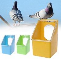 Andere Vogel liefert Feeder für Papageien Pigeon Budgie Outdoor Kunststoff Fütterung Box Box Anti Splash Käfig Getränk Wasser Gelb Blau