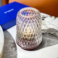 Crystal Candle Holders Aromatherapy Candlestick Glass cover Wind proof lampshade
