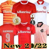 21 22 Club Internacional Soccer Jersey Rouge Accueil 2021 2022 Elevé Troisième chemise de football rose blanc Femme N. Lopez D.Alessandro Pottkkkker Top