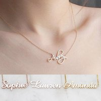 Pendant Necklaces DODOAI Custom Personalized Name Jewelry Personality Letter Choker With For Women Girls Mother