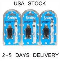 EE.UU. Galletas de stock Batería 350mAh Vape baterías con cargador USB Blister Plastic Packaging 510 Hilo Ajustable Vaporizador Pluma Variable Voltaje Variable