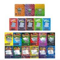 Holografik Dank Gummies Ka Koko Nuggz Mylar Çanta Yenilebilir Ambalaj Fermuar Kilit Çanta Toptan Fiyat Özel