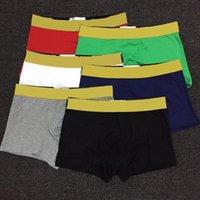 Underwear da uomo Boxer in cotone sottolineatura Lettere Sexy Man Mutandine uomo confortevole Traspirante Underpants Gay Boxer maschile Biancheria intima morbida