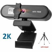Camcorders 2k HD PC Video Camera Webcam Conferentie With Microphone Autofocus Usb Connect For Laptop Desktop Tripod
