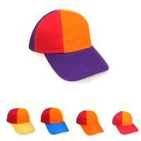 Bebé gorra muchacho niña sol visera desordenado cola de caballo arco iris bollo sombreros algodón remiendo snapback bola verano hip hop realiza un sombrero al aire libre de béisbol de bricolaje