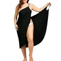 فستان Oufisun المرأة زائد الحجم صوفية شاطئ التستر التفاف ثوب السباحة رداء دي بلاج ملابس فام تونك قفطان