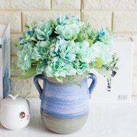 7-Piece testa peonia bouquet pianta imitazione fiori decorazione della casa boquet da sposa titolare fiore artificiale fiore decorativo ghirlande