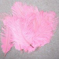 10-12 pouces de plume d'autruche vraie plume naturelle pour la décoration de la maison Décorations de mariage, paquet de 100 (rose)