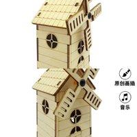 3D Pädagogisches Spielzeug Holzmusikkasten Dreidimensionale Puzzle DIY Manuelle Kinder UZTA730