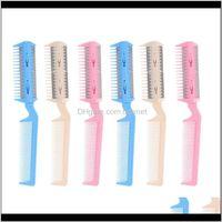 Pinsel 6 stücke Kämme doppelseitige Haarschere dünn Rasierer Friseur für Friseur für Barber Home Salon Rygpx Prglx