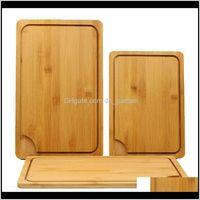 Japon Mutfak Antibakteriyel Kesme Tahtası İşlevli Bambu Blokları Kesim Ekmek Tatlı Biftek Doğrama Plakası BH1296 TKQ RTP2W BZJTA
