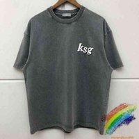 2020fw Kanye West Ksg t Shirt Men Women Best Quality Washed Old Tees 3d Foam Print T-shirts 2TH8