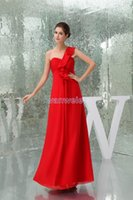 Bridesmaid Dress Modest 2021 Design Pleat Custom Size One Shoulder Plus Gown Beach Long Red Dresses