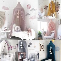 침대 그물 그물 아기 캐노피 모기장 그물 침대 커튼 침구 핑크 여자 공주 아이들을위한 텐트 어린이 방 장식