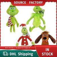 Grinch Christmas Greens Monster Peluche Giocattolo Green Fur Monsters Nuovi Giocattoli per Bambole Decorazioni vacanze Forniture per feste Plushes Bambola