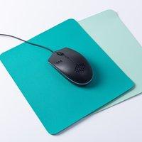 Semplice tappetino per mouse a doppio colore PU PU PU PULINO PULSINO PER TAPPO TOUFINO DOPPIO SIDE PIACCHETTO PIASTURE IN PELLE